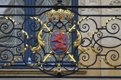Coat of arms of the Grand Duke of Luxembourg at the granddukal p