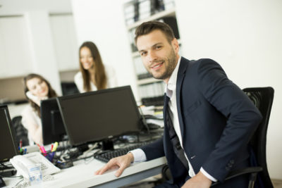 Young people in the modern office